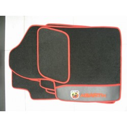 KIT TAPPETI SPECIFICI IN MOQUETTE PER FIAT 500 ABARTH