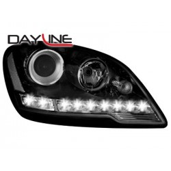 COPPIA DI FARI ANTERIORI ANGEL EYES NERI MERCEDES ML W164