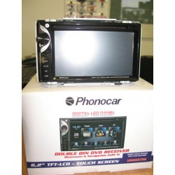 PHONOCAR MEDIA STATION 2DIN LED PHONOCAR VM057 BLUETOOTH NAVIGAZIONE