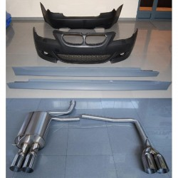 KIT ESTETICO COMPLETO IN ABS BMW SERIE 5 E60 E61 LOOK MTECH