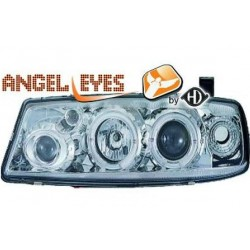 COPPIA DI FARI ANTERIORI ANGEL EYES CROMO OPEL CALIBRA