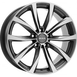 MAK WHEELS CERCHI IN LEGA WOLF GUN METAL DA 19