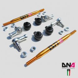 DNA RACING KIT TIRANTI BARRA ANTIROLLIO ANTERIORI FIAT 500 ABARTH MINI OPEL CORSA MITO