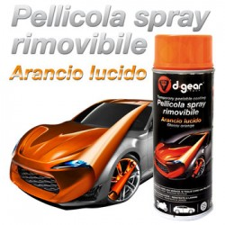 DGEAR VERNICE REMOVIBILE SPRAY ARANCIO LUCIDO 1 X 400ML