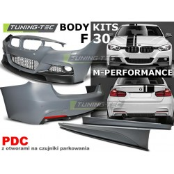 KIT ESTETICO COMPLETO IN ABS BMW SERIE 3 F30 LOOK M-PERFORMANCE PDC