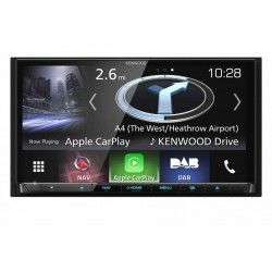 "KENWOOD DNX8170DABS Monitor da 7"" con schermo estraibile Touch Screen Tuner Dab Bluetooth"