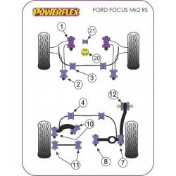 POWERFLEX BOCCOLA BARRA STABILIZZATRICE POSTERIORE FORD FOCUS ST + RS