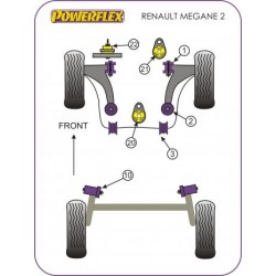 POWERFLEX BOCCOLA SUPPORTO PONTE POSTERIORE RENAULT MEGANE II RS