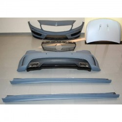 KIT ESTETICO COMPLETO IN ABS MERCEDES CLASSE A W176 LOOK AMG