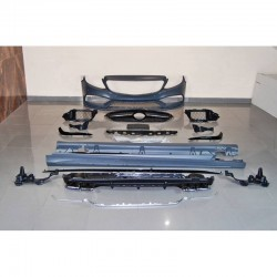 KIT ESTETICO COMPLETO IN ABS MERCEDES CLASSE C W205 LOOK C63