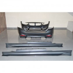 KIT ESTETICO COMPLETO IN ABS BMW SERIE 4 F32 LOOK M4 CARBON