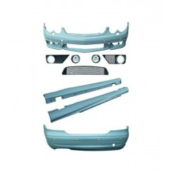 KIT ESTETICO COMPLETO IN ABS MERCEDES CLASSE CLK W209 LOOK AMG