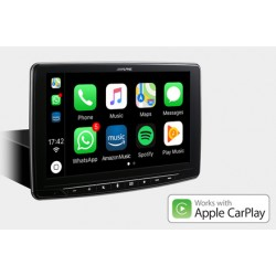 """ALPINE ILX-F903D Monitor 9"""" Multimediale Apple Car Play Android 1 Din Universale"""