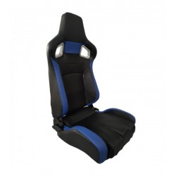 AUTOSTYLE SEDILE ANTERIORE RECLINABILE IN SIMILPELLE NERO BLU RS6 II SS68B