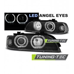 COPPIA DI FARI ANTERIORI ANGEL EYES NERI BMW SERIE 5 E39