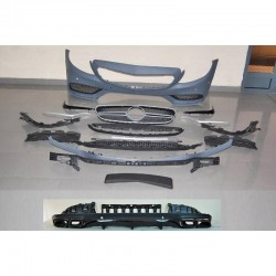 KIT ESTETICO COMPLETO IN ABS MERCEDES CLASSE C W205 COUPE' C63