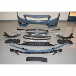 KIT ESTETICO COMPLETO IN ABS MERCEDES CLASSE C W205 4 PORTE LOOK C63