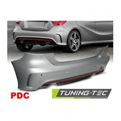 PARAURTI POSTERIORE COMPLETO IN ABS MERCEDES CLASSE A W176 LOOK AMG