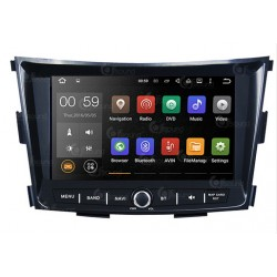 CUSTOM FIT JF-038STA AUTORADIO SSANGYONG TIVOLI DAL 2015 ANDROID QUADCORE