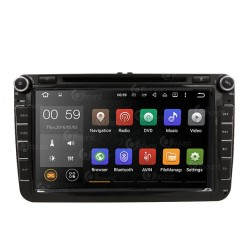 CUSTOM FIT JF-038W6A AUTORADIO SKODA FABIA OCTAVIA YETI ROOMSTER QUADCORE ANDROID
