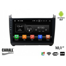 CUSTOM FIT Autoradio Android 8,0 VW Polo GPS DVD USB SD WI-FI Bluetooth Navigatore