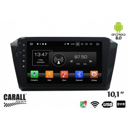 CUSTOM FIT Autoradio Android 8,0 VW Passat 2016 GPS DVD USB SD WI-FI Bluetooth Navigatore