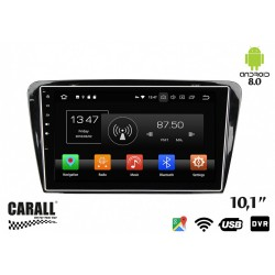 CUSTOM FIT Autoradio Android 8,0 Skoda Octavia 2014 GPS DVD USB SD WI-FI Bluetooth Navigatore