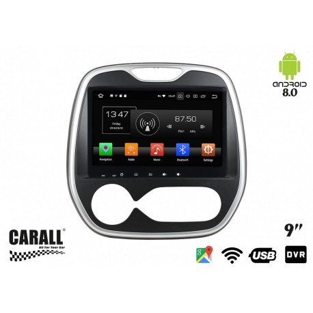 CUSTOM FIT Autoradio Android 8,0 Renault Captur GPS DVD USB SD WI-FI Bluetooth Navigatore