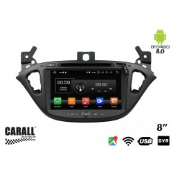 CUSTOM FIT Autoradio Android 8,0 Opel Corsa GPS DVD USB SD WI-FI Bluetooth Navigatore