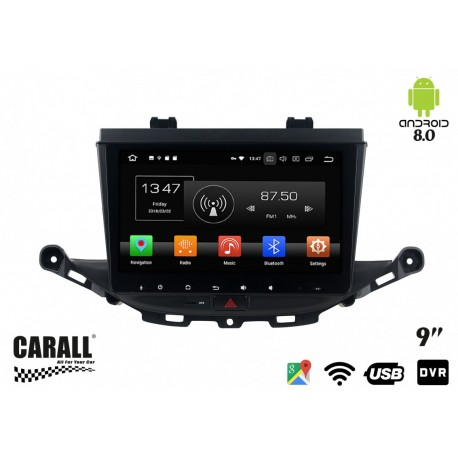 CUSTOM FIT Autoradio Android 8,0 Opel Astra K GPS DVD USB SD WI-FI Bluetooth Navigatore