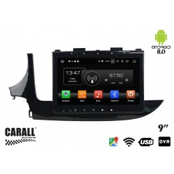 CUSTOM FIT Autoradio Android 8,0 Opel Mokka GPS DVD USB SD WI-FI Bluetooth Navigatore