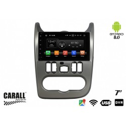 CUSTOM FIT Autoradio Android 8,0 Dacia Sandero GPS DVD USB SD WI-FI Bluetooth Navigatore