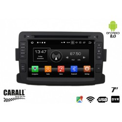 CUSTOM FIT Autoradio Android 8,0 Dacia Duster GPS DVD USB SD WI-FI Bluetooth Navigatore