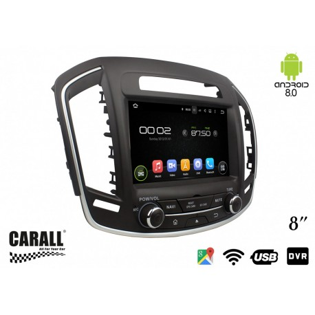 CUSTOM FIT Autoradio Android 8,0 Opel insigna GPS DVD USB SD WI-FI Bluetooth Navigatore