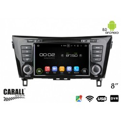 CUSTOM FIT Autoradio Android 8,0 Nissan X-Trail QASHQAI GPS DVD USB SD WI-FI Bluetooth Navigatore
