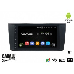CUSTOM FIT Autoradio Android 8,0 Mercedes Benz W211 GPS DVD USB SD WI-FI Bluetooth Navigatore