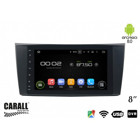 CUSTOM FIT Autoradio Android 8,0 Mercedes Benz W211GPS DVD USB SD WI-FI Bluetooth Navigatore