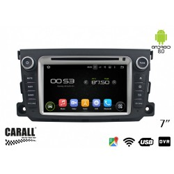 CUSTOM FIT Autoradio Android 8,0 Mercedes Benz Smart GPS DVD USB SD WI-FI Bluetooth Navigatore