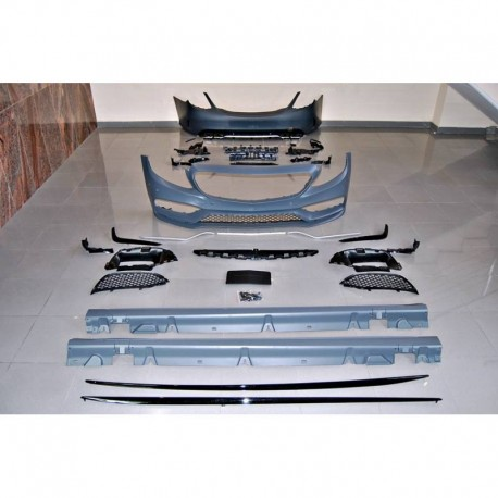 KIT ESTETICO COMPLETO IN ABS MERCEDES CLASSE C W205 4P LOOK AMG