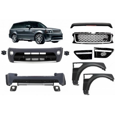 KIT ESTETICO COMPLETO IN ABS RANGE ROVER SPORT 2009 L320 look Autobiography
