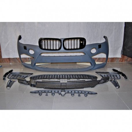 PARAURTI ANTERIORE COMPLETO IN ABS BMW X6 F16 LOOK X6M