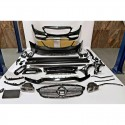 KIT ESTETICO COMPLETO IN ABS MERCEDES CLASSE C W205 2019 LOOK C63