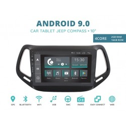 CUSTOM FIT JF-031JCA-XDAB AUTORADIO JEEP COMPASS DAL 2017 ANDROID QUADORE