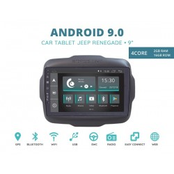 CUSTOM FIT JF-039JRA-XDAB AUTORADIO JEEP RENEGADE DAL 2010 ANDROID QUADCORE