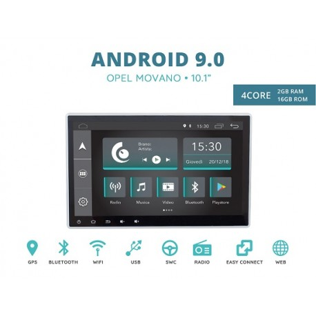 CUSTOM FIT JF-011A-XDAB-OM AUTORADIO SPECIFICA OPEL MOVANO ANDROID