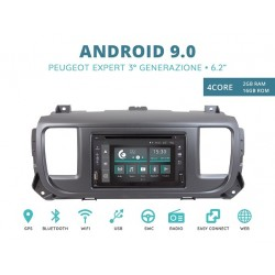CUSTOM FIT JF-222A-XDAB-PE AUTORADIO SPECIFICA PEUGEOT EXPERT DAL 2016 ANDROID QUADCORE