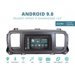 CUSTOM FIT JF-227A-XDAB-PE AUTORADIO SPECIFICA PEUGEOT EXPERT DAL 2016 ANDROID QUADCORE