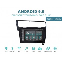CUSTOM FIT JF-031W7A-XDAB AUTORADIO VOLKSWAGEN GOLF 7 NERO ANDROID QUADCORE
