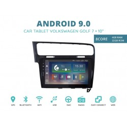 CUSTOM FIT JF-031W7O-XDAB AUTORADIO VOLKSWAGEN GOLF 7 NERO ANDROID OCTACORE