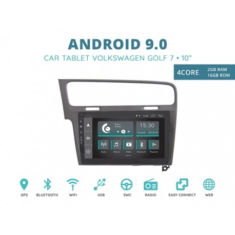 CUSTOM FIT JF-032W7A-XDAB AUTORADIO VOLKSWAGEN GOLF 7 GRIGIO ANDROID QUADCORE